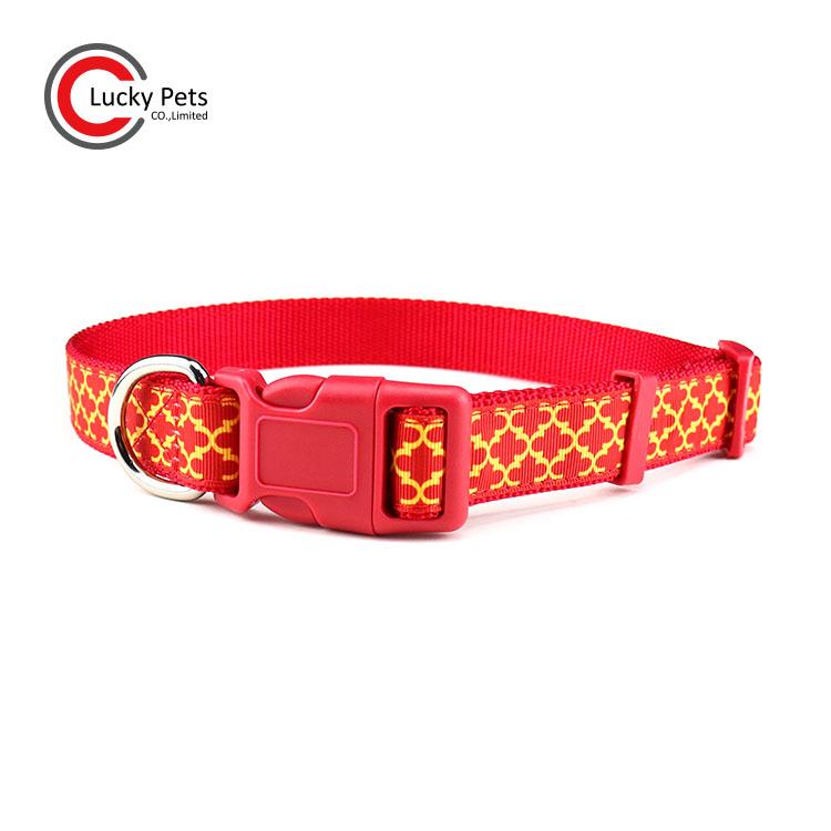 Premium Custom Fashion Patterns Nylon Ribbon Dog Collar